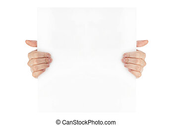 advertising:, 手, 紙, 藏品, 白色, 空