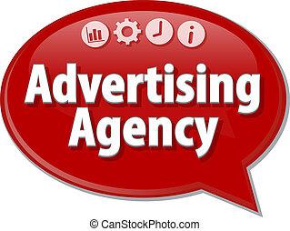 Advertising Agency Business term speech bubble illustration...