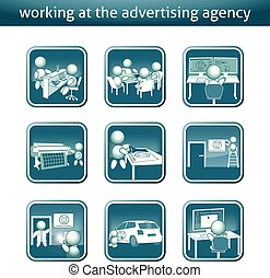 advertising agency button advertising agency job button -...