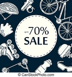 Advertising banner design for bicycle sale