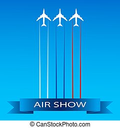 Advertising banner for air show