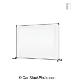 Advertising banners shield mockup, template