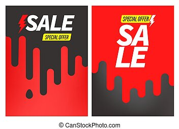 Advertising banners vector set. Special offer