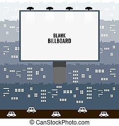 Advertising Billboard In Town.