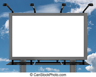 Advertising billboard - Very high resolution 3d rendering of...