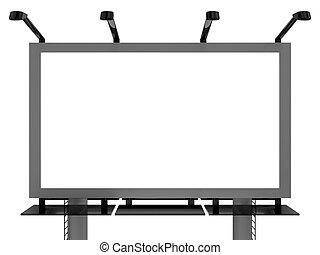 Very high resolution 3d rendering of an advertising billboard