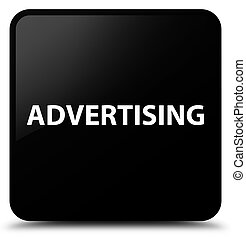 Advertising black square button