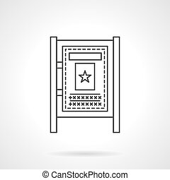 Advertising board flat line vector icon