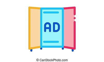 advertising booklet Icon Animation. color advertising booklet animated icon on white background