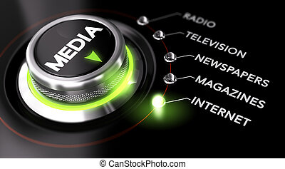 Advertising Campaign, Mass Medias - Switch button positioned...