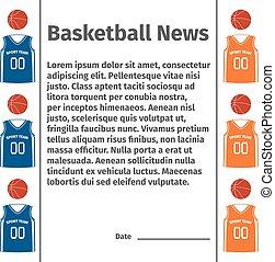 Advertising card for basketball