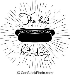 Advertising card with hot dog Icon