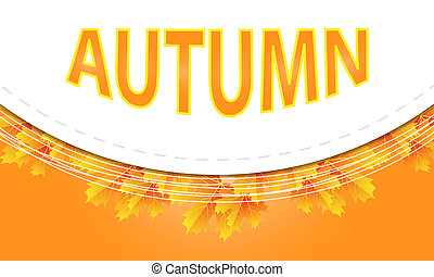 advertising circular banner with autumn leaves