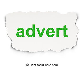 Advertising concept: Advert on Paper background -...