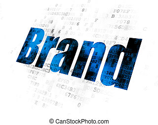 Advertising concept: Brand on Digital background