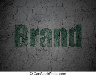 Advertising concept: Brand on grunge wall background
