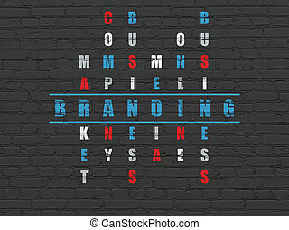 Advertising concept: Branding in Crossword Puzzle