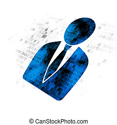 Advertising concept: Business Man on Digital background