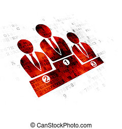 Advertising concept: Business Team on Digital background