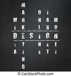 Advertising concept: Design in Crossword Puzzle