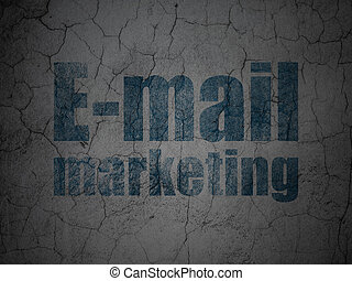 Advertising concept: E-mail Marketing on grunge wall background