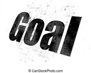 Advertising concept: Goal on Digital background