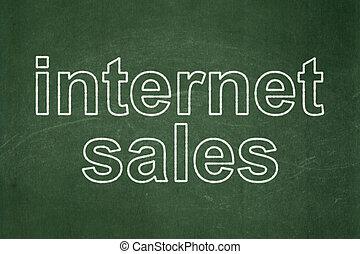 Advertising concept: Internet Sales on chalkboard background...