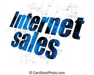 Advertising concept: Internet Sales on Digital background -...