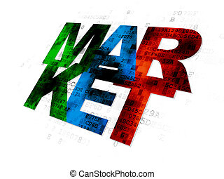 Advertising concept: Market on Digital background