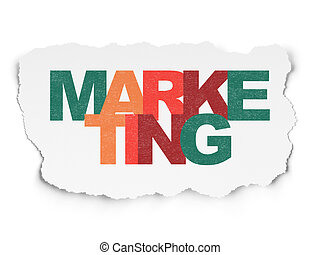 Advertising concept: Marketing on Torn Paper background