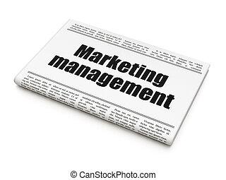 Advertising concept: newspaper headline Marketing Management