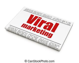 Advertising concept: newspaper headline Viral Marketing