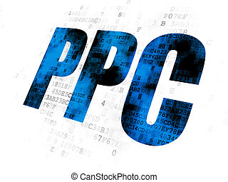 Advertising concept: PPC on Digital background