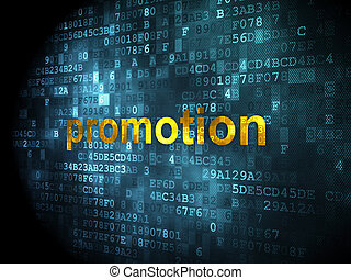 Advertising concept: Promotion on digital background -...
