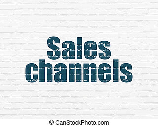 Advertising concept: Sales Channels on wall background