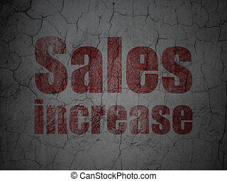 Advertising concept: Sales Increase on grunge wall background
