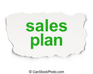 Advertising concept: Sales Plan on Paper background