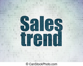 Advertising concept: Sales Trend on Digital Data Paper background