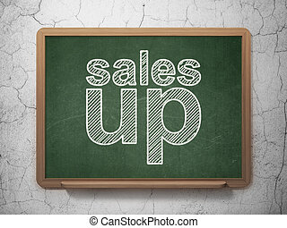 Advertising concept: Sales Up on chalkboard background