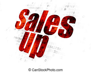 Advertising concept: Sales Up on Digital background
