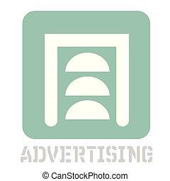 Advertising conceptual graphic icon