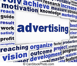 Advertising conceptual message background