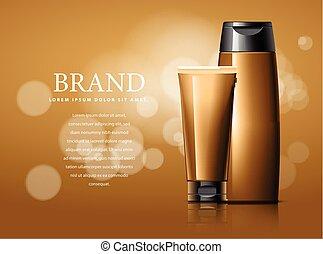 advertising., desenho, cosméticos
