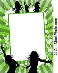 Advertising - Illustration of empty advertising sheet, on a...