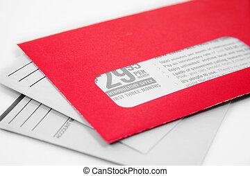 advertising envelope