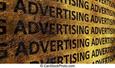 Advertising grunge concept