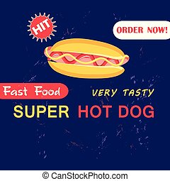 Advertising Illustration with hot dog