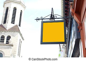 Advertising in city