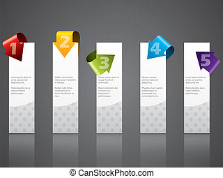 Advertising label set with cool color arrows