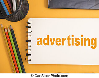 Advertising, Motivational Business Marketing Words Quotes Concept
